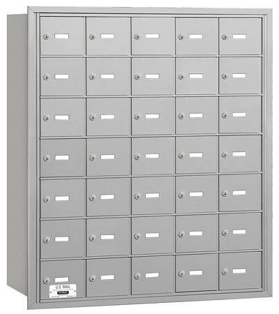 3635 Rear Loading Salsbury Horizontal Mailboxes