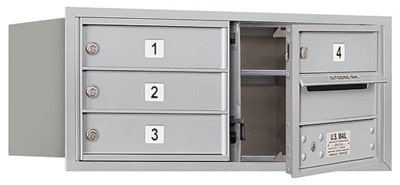 3703D-04 Front Loading Salsbury 4C Horizontal Mailboxes