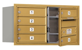 Salsbury 4C Mailboxes 3704D-06 Gold