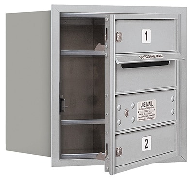 3704S-02 Front Loading Salsbury 4C Horizontal Mailboxes