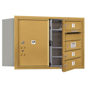 Salsbury 4C Mailboxes 3705D-03 Gold