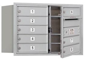 Salsbury 4C Mailboxes 3705D-08 Aluminum