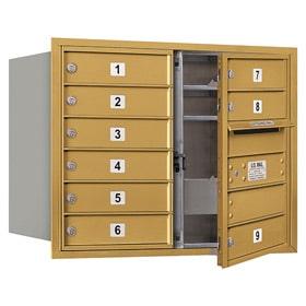 Salsbury 4C Mailboxes 3706D-09 Gold