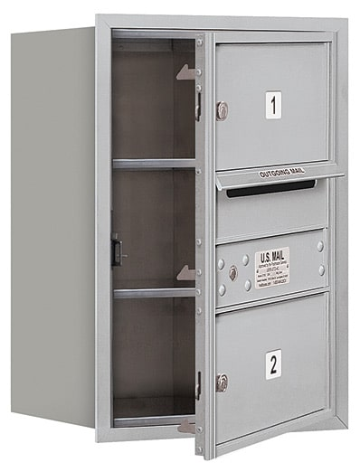 3706S-02 Front Loading Salsbury 4C Horizontal Mailboxes