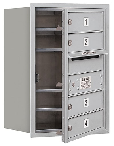 3706S-04 Front Loading Salsbury 4C Horizontal Mailboxes
