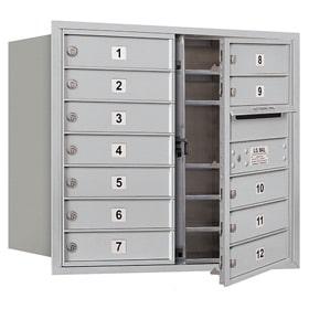 Salsbury 4C Mailboxes 3707D-12 Aluminum