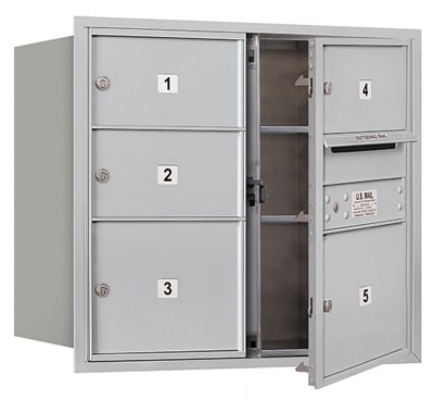 3707D-05 Front Loading Salsbury 4C Horizontal Mailboxes