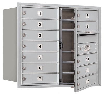 3707D12 Front Loading Commercial 4C Mailboxes