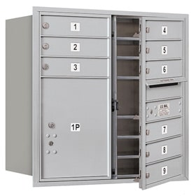 Salsbury 4C Mailboxes 3708D-09 Aluminum