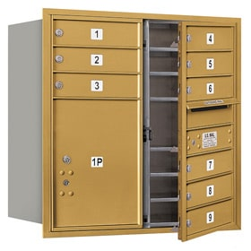 Salsbury 4C Mailboxes 3708D-09 Gold