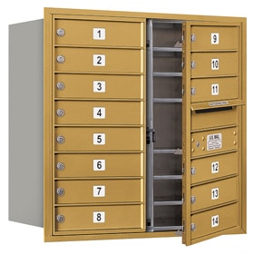 Salsbury 4C Mailboxes 3708D-14 Gold