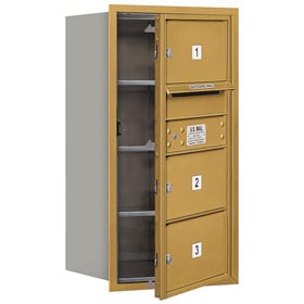 Salsbury 4C Mailboxes 3708S-03 Gold