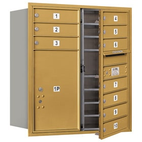 Salsbury 4C Mailboxes 3709D-10 Gold