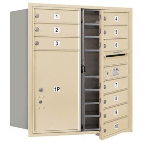 Salsbury 4C Mailboxes 3709D-10 Sandstone