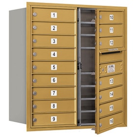 Salsbury 4C Mailboxes 3709D-16 Gold