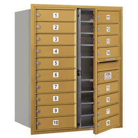 Salsbury 4C Mailboxes 3710D-18 Gold