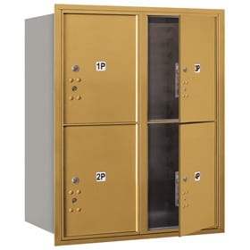 Salsbury 4C Mailboxes 3710D-4P Gold