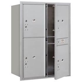 Salsbury 4C Mailboxes 3711D-4P Aluminum