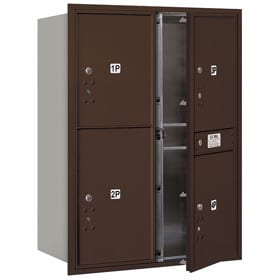 Salsbury 4C Mailboxes 3711D-4P Bronze