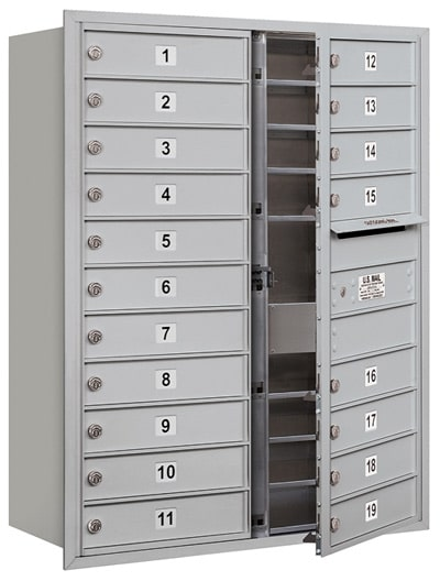 3711D-19 Front Loading Salsbury 4C Horizontal Mailboxes