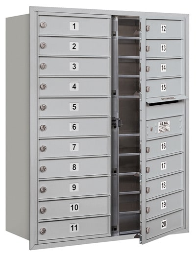 3711D-20 Front Loading Salsbury 4C Horizontal Mailboxes