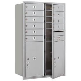 Salsbury 4C Mailboxes 3712D-10 Aluminum