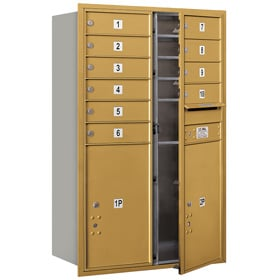 Salsbury 4C Mailboxes 3712D-10 Gold
