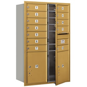 Salsbury 4C Mailboxes 3712D-12 Gold