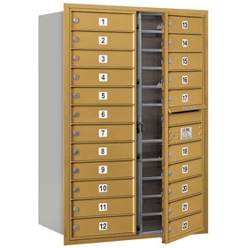 Salsbury 4C Mailboxes 3712D-22 Gold