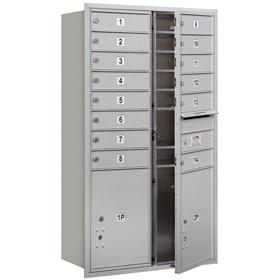 Salsbury 4C Mailboxes 3713D-14 Aluminum