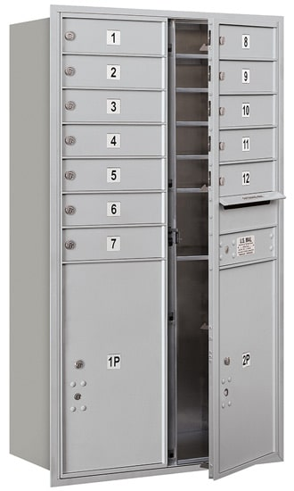 3713D-12 Front Loading Salsbury 4C Horizontal Mailboxes