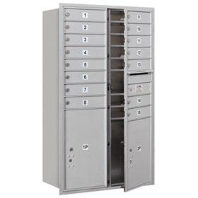 Salsbury 4C Mailboxes 3714D-15 Aluminum