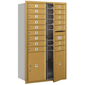 Salsbury 4C Mailboxes 3714D-16 Gold