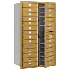 Salsbury 4C Mailboxes 3714D-26 Gold