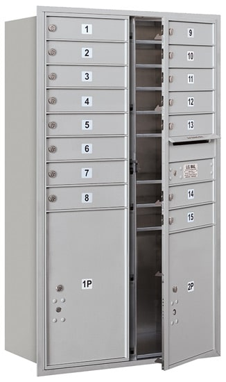 3714D-15 Front Loading Salsbury 4C Horizontal Mailboxes