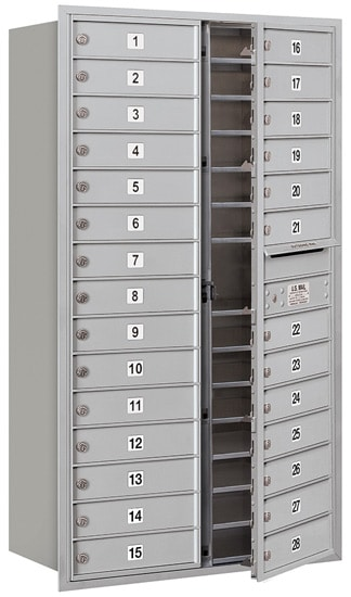 3715D-28 Front Loading Salsbury 4C Horizontal Mailboxes