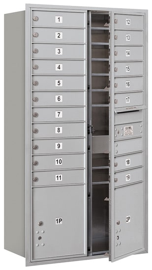 3716D-19 Front Loading Salsbury 4C Horizontal Mailboxes
