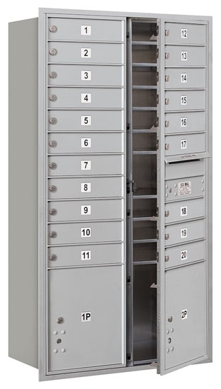 3716D-20 Front Loading Salsbury 4C Horizontal Mailboxes