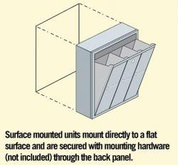 Salsbury Vertical Mailbox Surface Installation