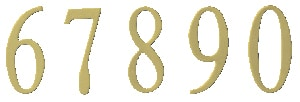 Berkshire Mailbox Brass Numbers