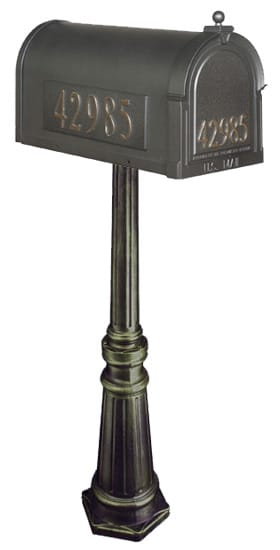 Special Lite Berkshire Mailbox with Tacoma Post