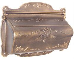 Special Lite Floral Horizontal Mailbox Bronze