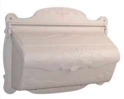 Special Lite Floral Horizontal Mailbox Champagne
