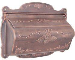 Special Lite Floral Horizontal Mailbox Copper
