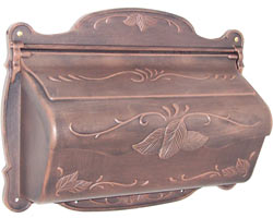 Special Lite Floral Horizontal Mailbox Copper