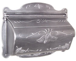 Special Lite Floral Horizontal Mailbox Silver