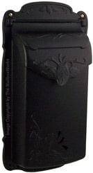 Special Lite Floral Vertical Mailbox Black