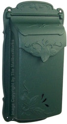Special Lite Floral Vertical Mailbox Evergreen