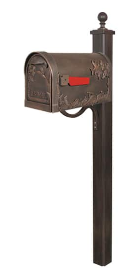 Special Lite Hummingbird Mailbox with Main Street Post