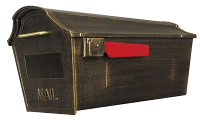 Town Square Post Mount Locking Mailbox